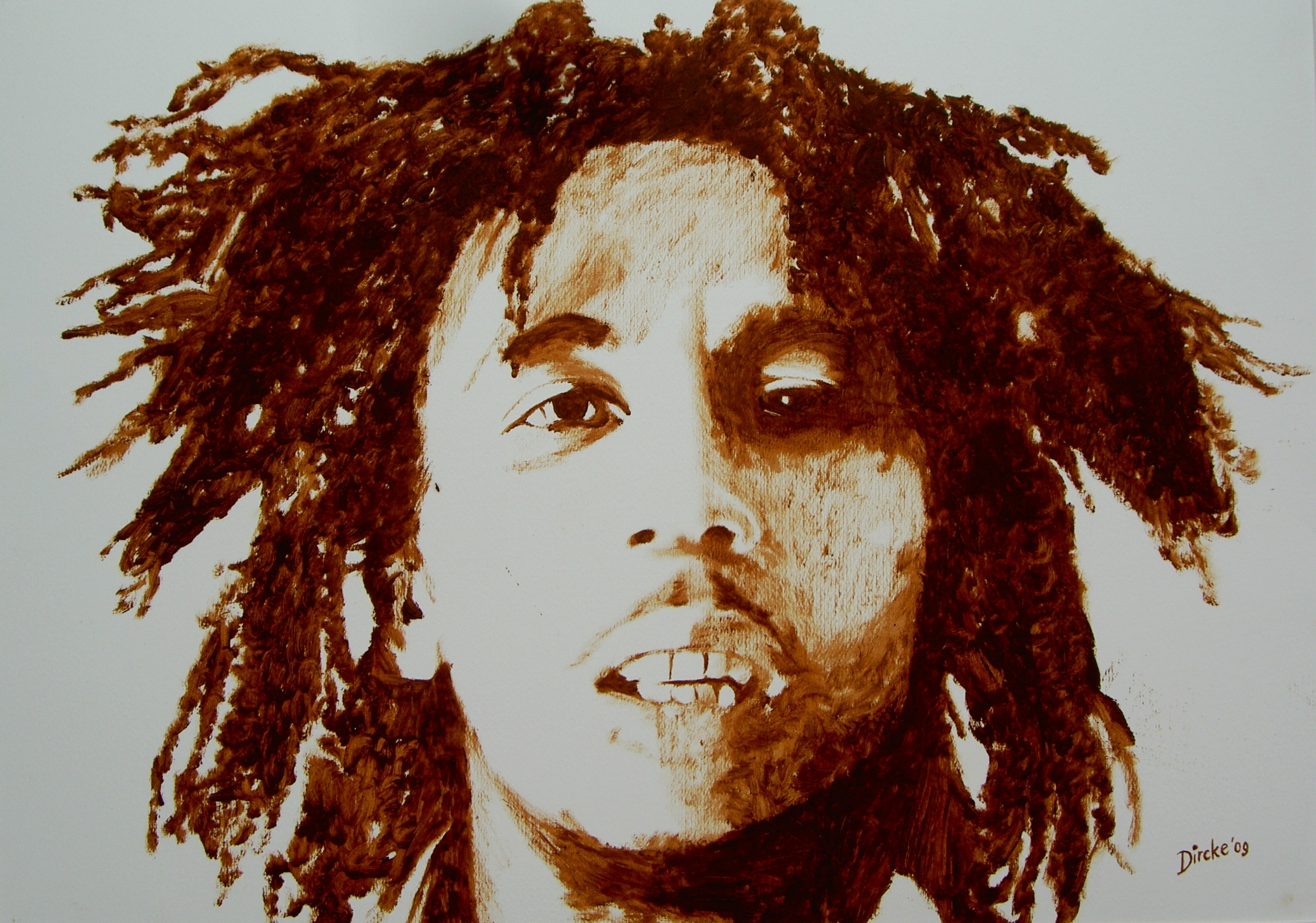 Bob Marley (2009) 80 X 60 Cm Oil On Paper